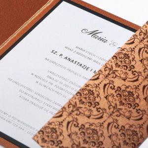 Proste zaproszenia ślubne - Elegant Pattern