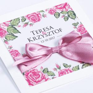 Kwiatowy Ogród - kwiatowe zaproszenia ślubne