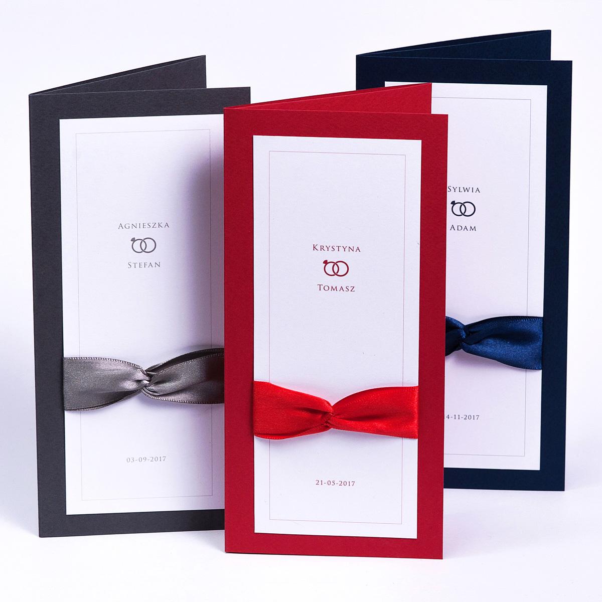 Eleganckie oryginalne zaproszenia ślubne - Prestige Slim