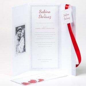 Piękne zaproszenia ślubne - Romantyczne Maki